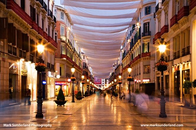 Calle Marques de Larios at Night