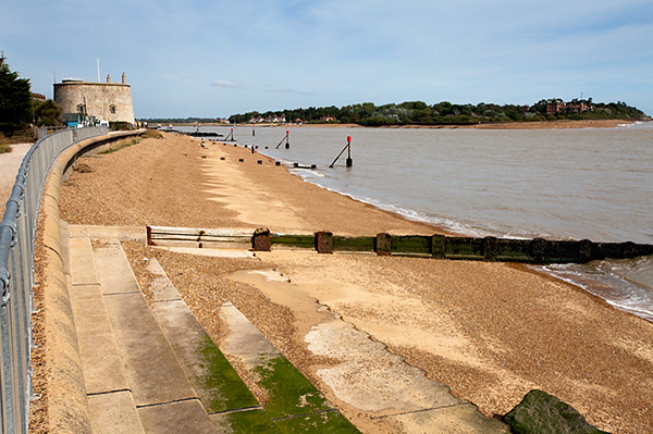 Mouth of the River Deben at Felixstowe Ferry