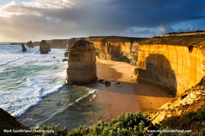 The Twelve Apostles at sunset Great Ocean Road