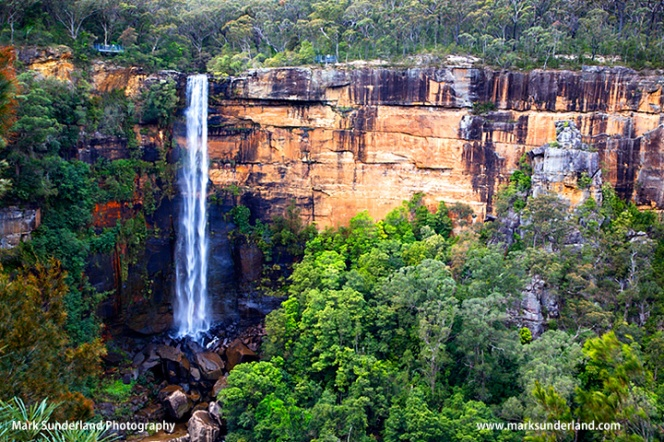 Fitzroy Falls showing viewing platforms Southern Highlands