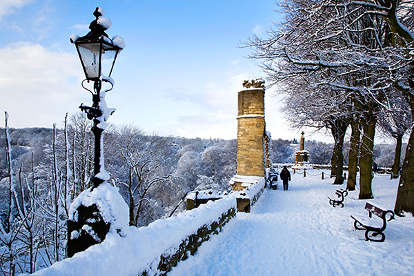 The Castle in Winter, Knaresborough, North Yorkshire, England