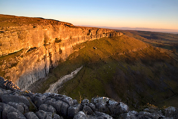 Last Light at Malham Cove, Yorkshire Dales, England