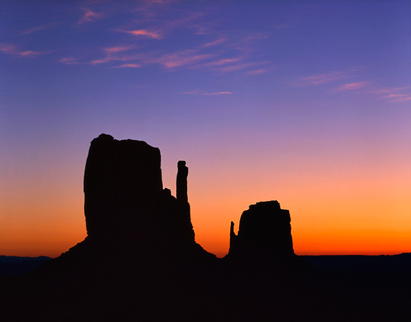 The Mittens at Dawn, Monument Valley, Arizona, USA