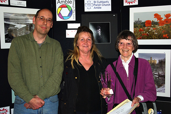Mark Sunderland with commended photographer Dot Tindal and People's Choice winner Joan Robinson