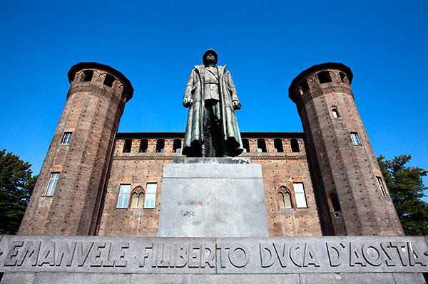 First World War Memorial to Emanuele Filiberto 2nd Duke of Aosta in Piazza Castello