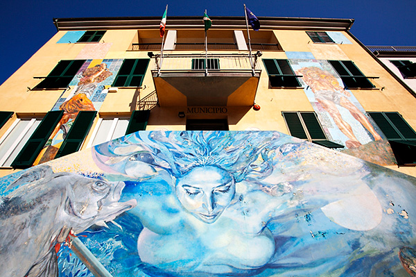 Maritime Mural at the Town Hall in Riomaggiore
