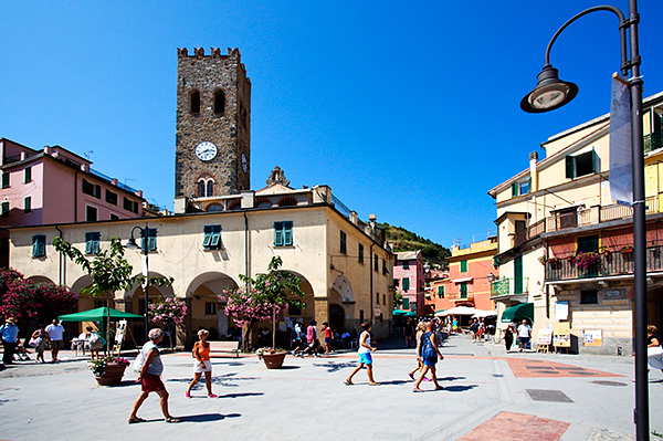 The Old Town and Church of St John at Monterosso al Mare