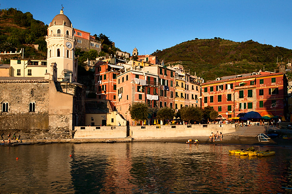 The Harbour at Sunset in Vernazza