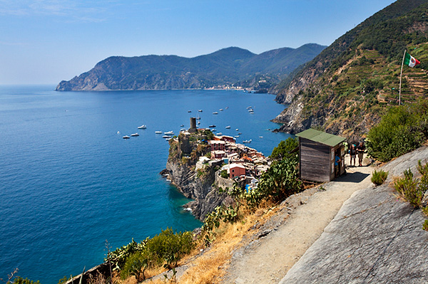Entrance Station to the Corniglia Leg of the Cinque Terre Coastal Path at Vernazza
