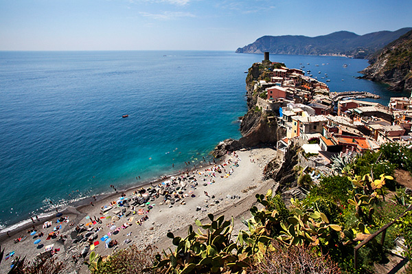 The Beach at Vernazza from the Cinque Terre Coastal Path