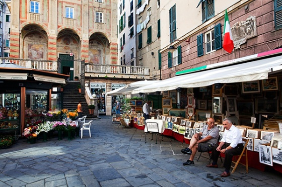 Piazza Banchi in the Old Town, Genoa