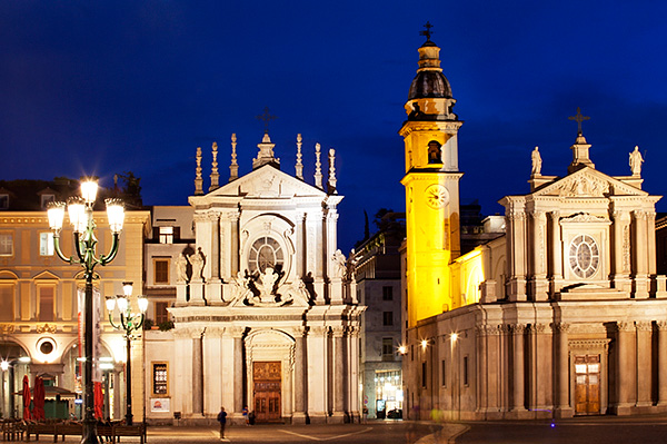 Church of Santa Cristina and Church of San Carlo at Dusk
