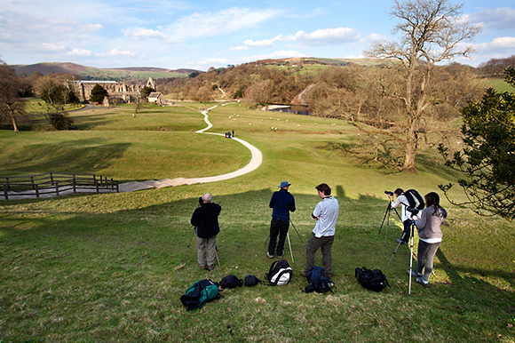Photographing at Bolton Abbey on the April Workshop