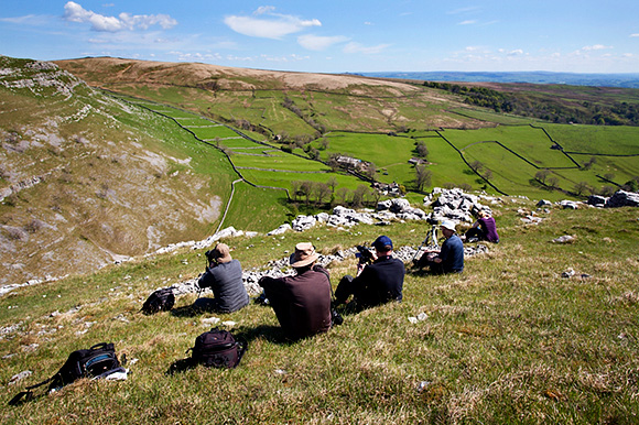 Above Gordale Scar on the May Malham Workshop