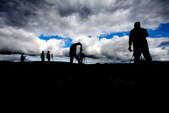 Photographers on Twisleton Scar, Ribblehead Workshop, September 2013