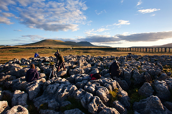 Sunset photography at Ribblehead on the September Workshop