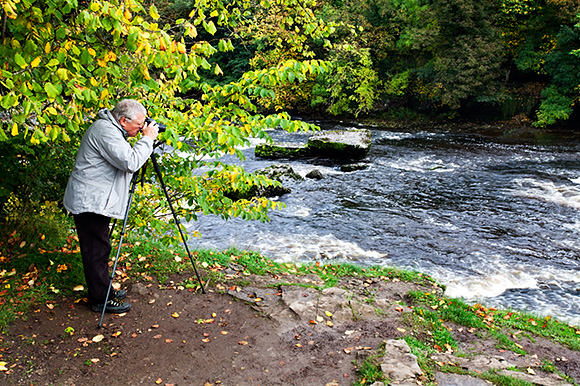 A Touch of Autumn Colour at Upper Aysgarth Falls on the October Workshop