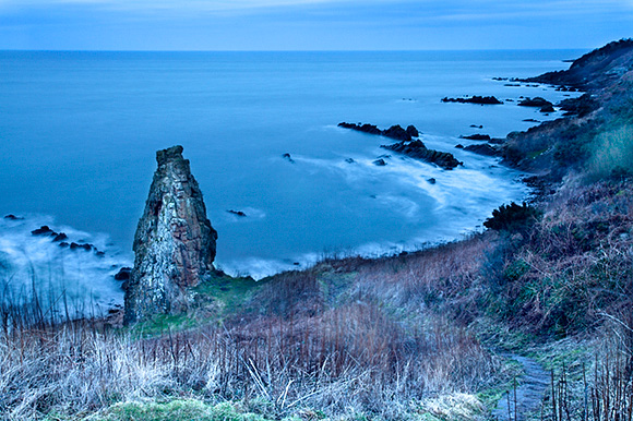 Rock Stack on the Fife Coast near St Andrews