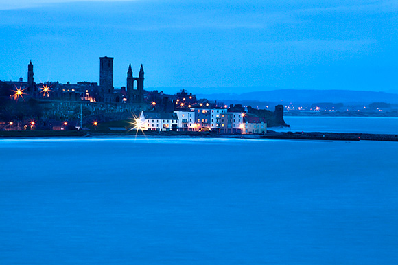 St Andrews Harbour at Dusk from the Fife Coastal Path