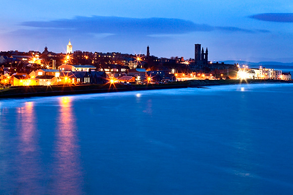 St Andrews at Dusk from the Fife Coastal Path