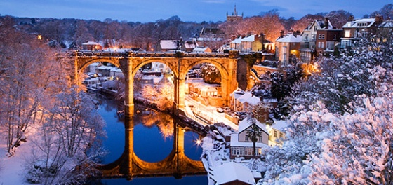 Think Snow at Knaresborough by Mark Sunderland