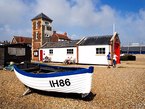 Fishing Boat and Old Lifeboat Station at Aldeburgh