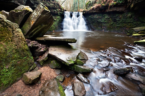 Stone Slabs and Goitstock Waterfall