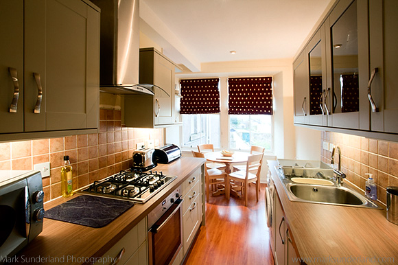 The Refurbished Kitchen at 3c Gillespie Terrace