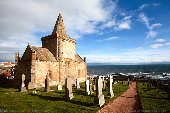 The Auld Kirk and Kirkyard on the Fife Coast at St Monans