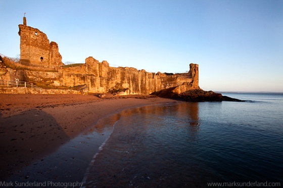 The Castle at Sunrise and High Tide