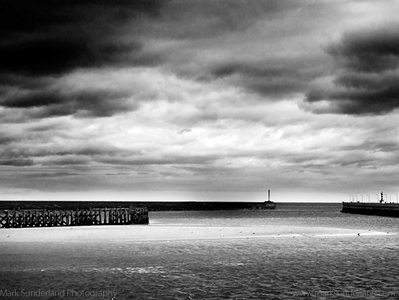 Stormy Skies over the Mouth of the River Coquet, Amble by the Sea, Northumberland, England