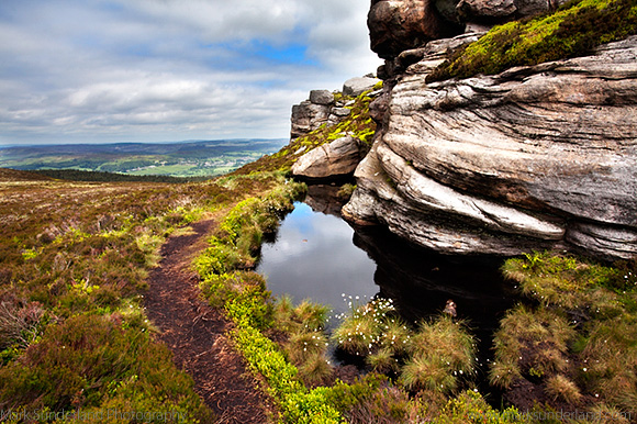 Old Stell Crag in the Simonside Hills near Rothbury Northumberland England