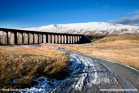 Ribblehead Viaduct and Whernside in Winter, Yorkshire Dales