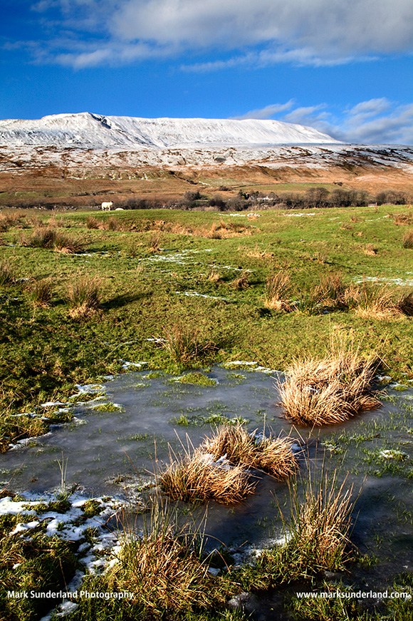 The Snowcapped Peak of Whernside in the Yorkshire Dales