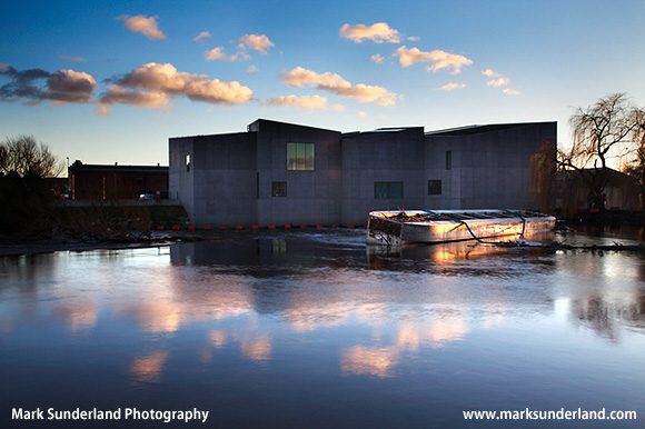 The Hepworth Gallery at Sunset Wakefield