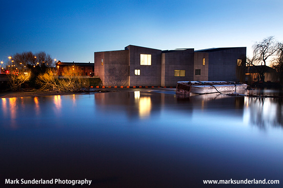 The Hepworth Gallery at Dusk Wakefield