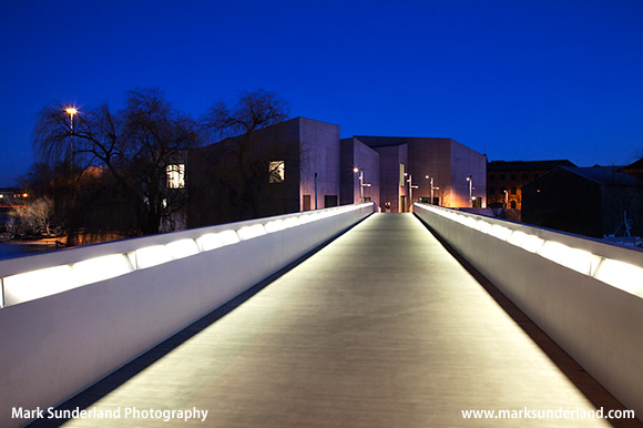 The Hepworth Gallery at Night Wakefield