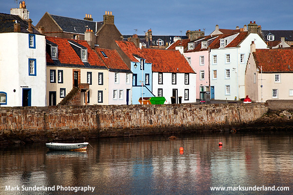 Colourful Cottages at St Monans Harbour East Neuk of Fife Scotland
