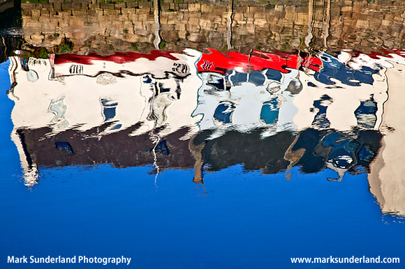 Sunny Morning Reflections at St Andrews Harbour St Andrews Fife Scotland
