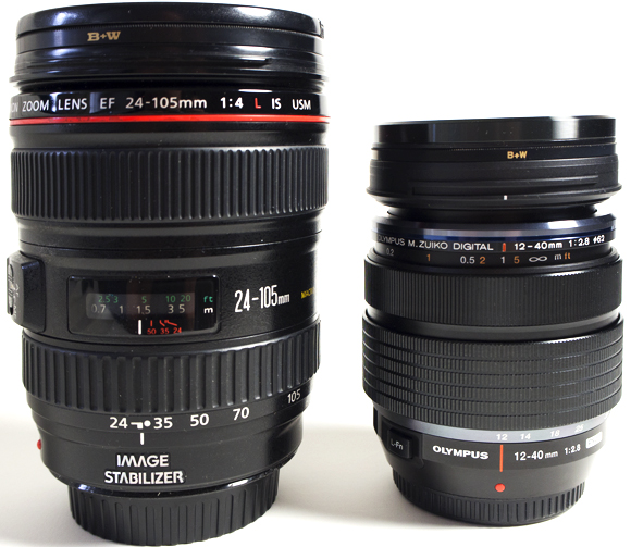 Canon 24-105 f4 L and Olympus 12-40 f2.8 Pro