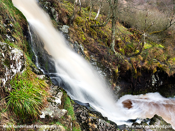 Linhope Spout waterfall in the Ingram Valley Northumberland National Park England