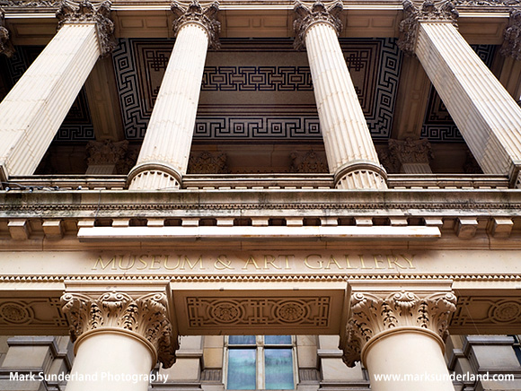Ornate Portico at the Art Gallery and Museum Chamberlain Square Birmingham West Midlands England