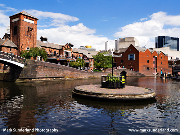 Busy Pub at Old Turn Junction on the Birmingham Canal Birmingham West Midlands England
