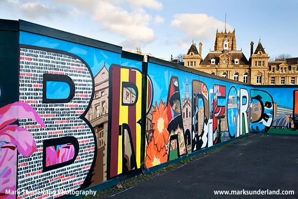Bradford Mural in Forster Square Bradford