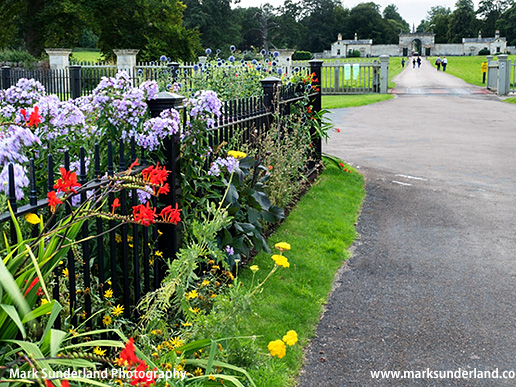 Entrance to Studlay Park at Studley Roger near Ripon North Yorkshire England