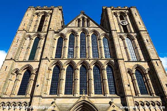 The Early English Gothic West Front of the Cathedral at Ripon North Yorkshire England