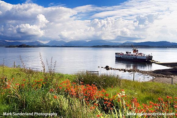Caledonian MacBrayne Ferry at Achnacroish Isle of Lismore Argyll and Bute Scotland