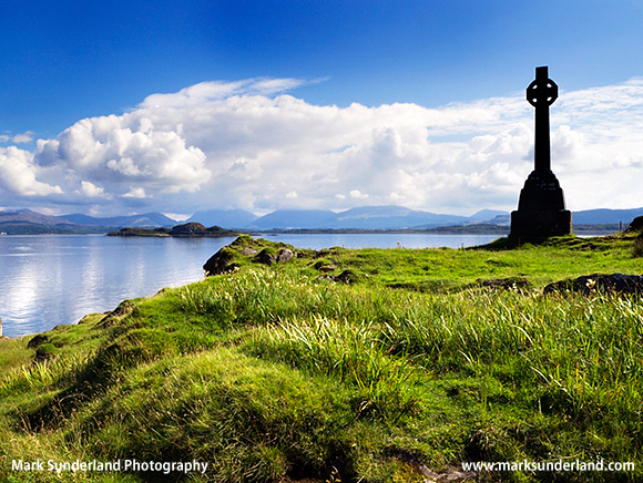 Celtic Cross Memorial to Waverley Arthur Cameron Isle of Lismore Argyll and Bute Scotland
