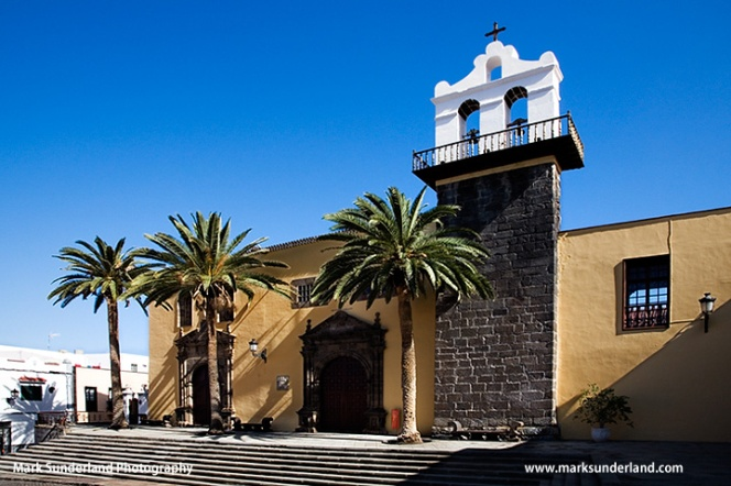 Iglesia de Nuestra Senora de los Angeles and Convento de San Francisco in Garachicho Tenerife Spain