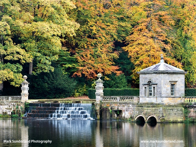 Studley Royal Water Gardens in Autumn
